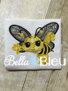 Cute Bumblebee Machine Applique Embroidery design