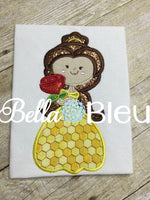 Inspired Beauty Belle Princess Machine Applique Embroidery Design