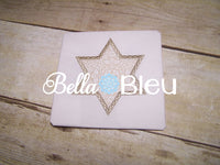 Hanukkah Embroidery Design, Star of David Applique Embroidery Design, Chanukkah Applique Embroidery Design