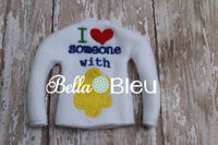 ITH In the hoop Elf I love someone with Autism Sweater Shirt Embroidery design