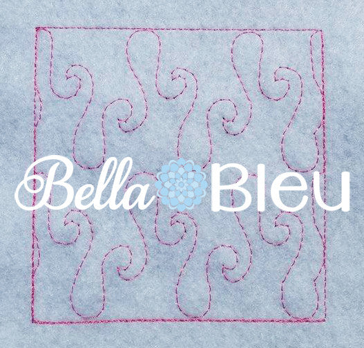Stipple Flame Quilt Quilting Stitch Machine Embroidery Design