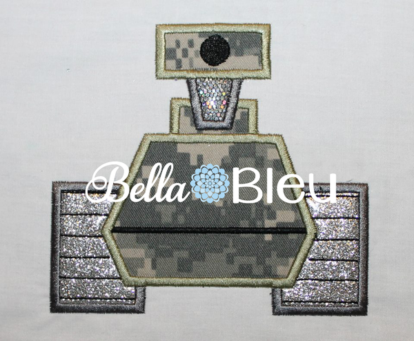 Army Tank #1 Machine Applique Embroidery Design
