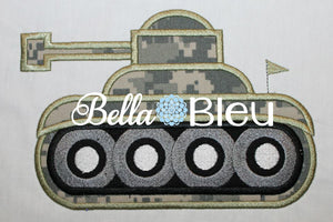 Army Tank Machine Applique Embroidery Design