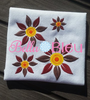Fall Sunflower flower Filled Machine Embroidery Design