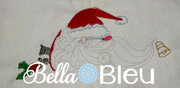 Quick Stitch Vintage Santa With whimsical beard machine embroidery design