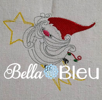 Santa Claus Riding a Shooting Star Colorwork Machine Embroidery Design