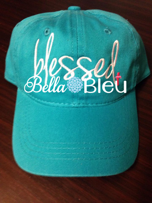 Blessed Baseball hat cap Machine Embroidery Design, Blessed Religious, Religious Cross Embroidery design