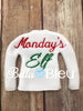 Monday's Elf Elf Sweater Shirt in the hoop machine embroidery design