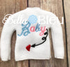 Baby Expecting Elf Sweater Shirt in the hoop machine embroidery design
