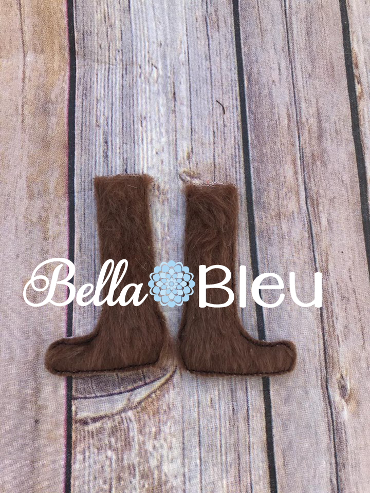 ITH Elf Inspired Chewie Boots Accessories Machine embroidery design