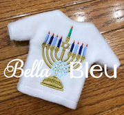 ITH Hannah the Hero Jewish Menorah sweater shirt machine embroidery design like elf clothes