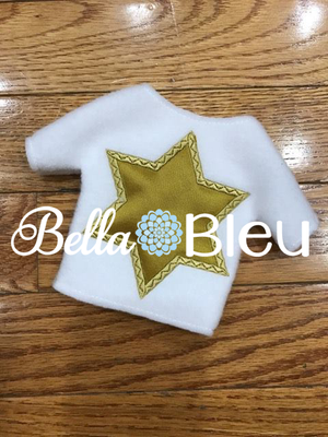 ITH Hannah's Star of David Jewish sweater shirt machine applique embroidery design like elf clothes