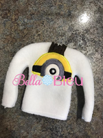 ITH In the Hoop Inspired Minion Elf Sweater Machine Applique Embroidery Design