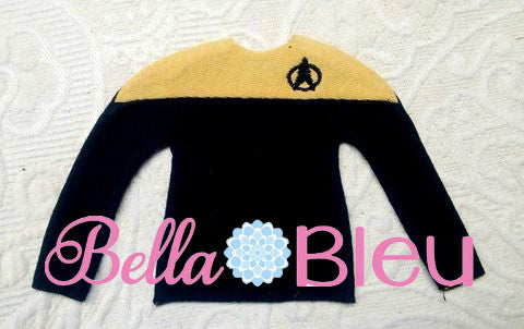 Elf Trek Trekkie Sweater Shirt Machine In the hoop embroidery design