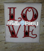 Beautiful Love Machine Embroidery Applique Design