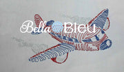 Airplane #4 Colorwork Quick Stitch Machine Embroidery Design