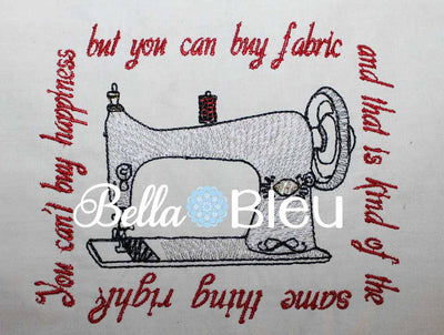 Vintage Sewing Machine Subway Art Machine Embroidery Design
