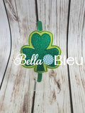 ITH in the hoop St Patrick's Day Shamrock Headband Slider machine embroidery