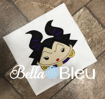 Inspired Maleficent Millie Evil Queen Machine Applique Embroidery Design