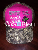 Huntin Hair Don't Care Baseball Hat Cap Machine Embroidery Design Hunting
