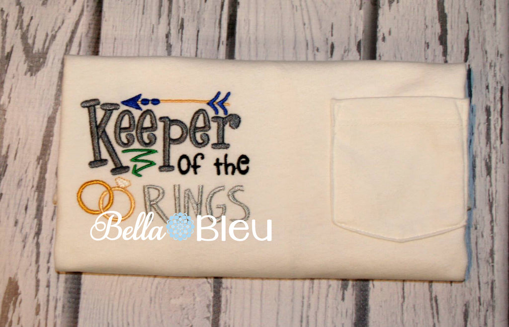 Keeper of the Rings Ring Bearer Machine Embroidery Design
