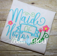 Maid of Honor Wedding Machine Embroidery Design