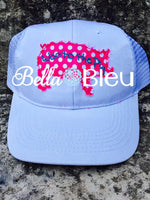 Woo to the Pig Raggy Baseball Hat Machine Embroidery design