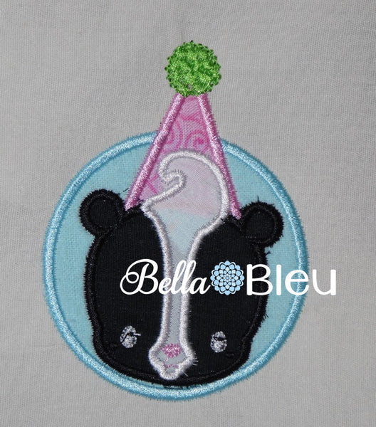 Adorable Birthday Sweet Smelly Skunk Machine Applique Embroidery Design