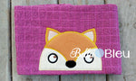 Adorable Fox Hooded Towel Topper Toppers Peeker Machine Applique Embroidery Designs or Tee