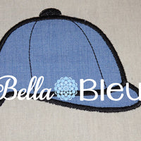English Riding Helmet Hat Machine Applique Design