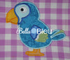 Parrot Bird Machine applique embroidery design