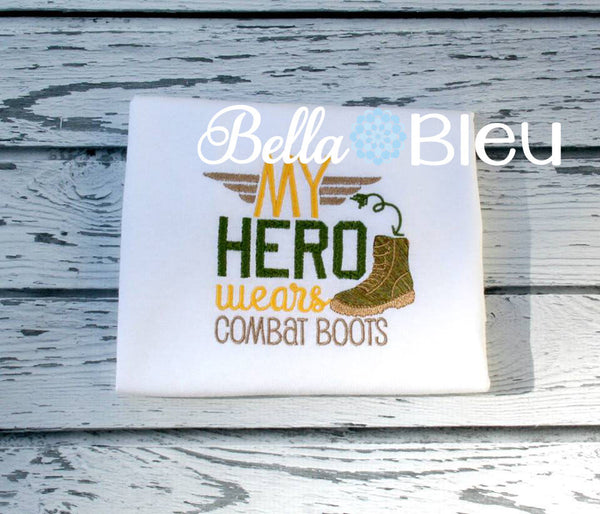 Military My Hero Wear Combat Boots Machine Embroidery Design