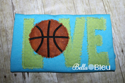 Raggy Love Basketball Machine Embroidery design