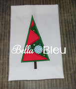 Applique Zig Zag Christmas Tree Machine Embroidery Design