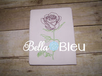 Beautiful Rose #4 Colorwork Machine Embroidery Design