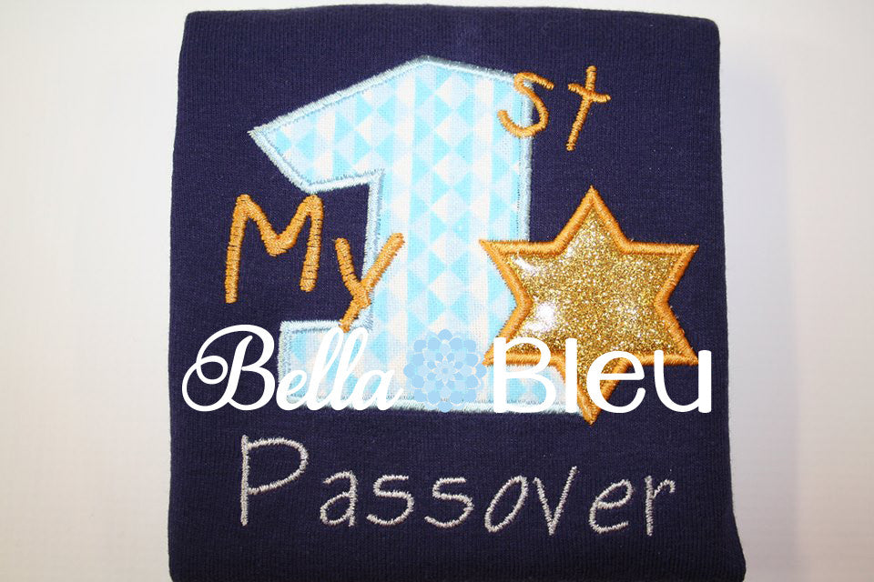 My First 1st Passover Jewish Holiday Machine Applique Embroidery Design