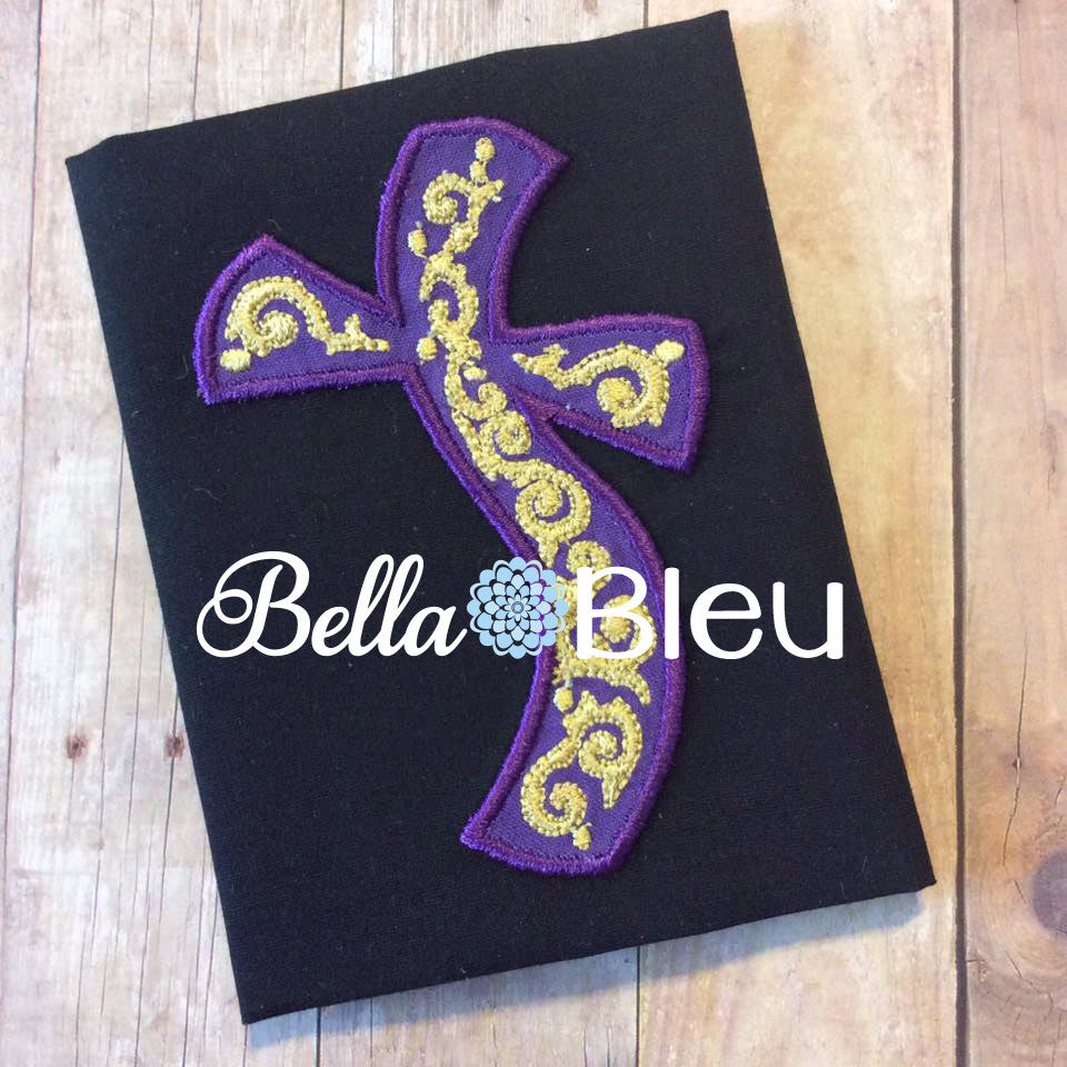Beautiful Applique Whimsical Cross Religious Machine Embroidery Design