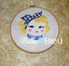 Baby Rosie the Riveter Machine Applique Embroidery Design