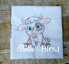 Baby Boy Steer Longhorn farm animal colorwork machine embroidery design