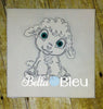 Baby Lamb Sheep Farm Animal Colorwork Machine Embroidery design
