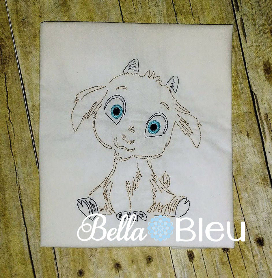 Billy goat Boy Farm Animal Colorwork Embroidery Redwork quick stitch machine embroidery design