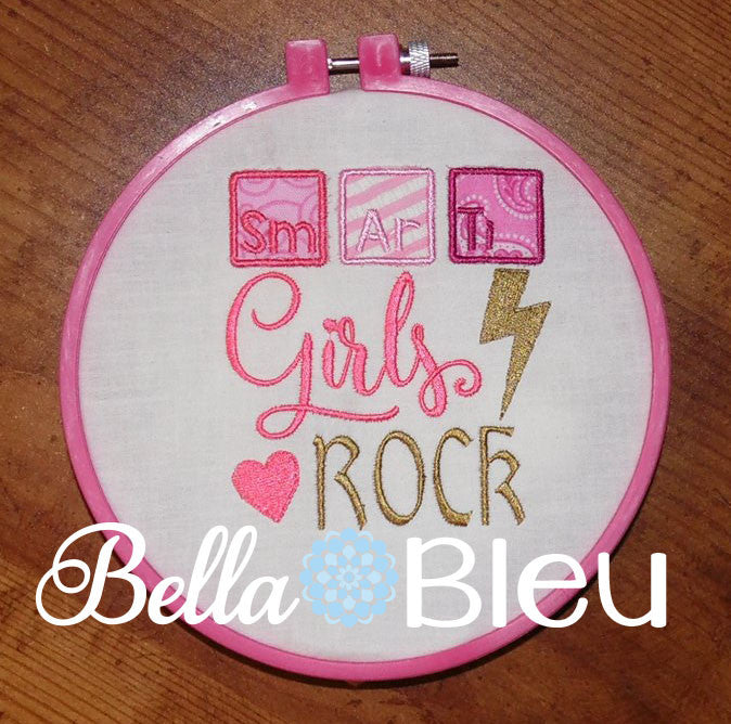 Back to school girls rock with periodic table applique machine back to school girls rock with periodic table applique machine embroidery design urtaz Gallery