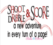 Basketball Shoot Dribble and Score Reading Pillow Saying