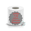 Official Member Over the Hill Toilet Paper Funny Saying Machine Embroidery Design sketchy