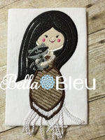Inspired Native American Indian Princess Machine Applique Embroidery Design