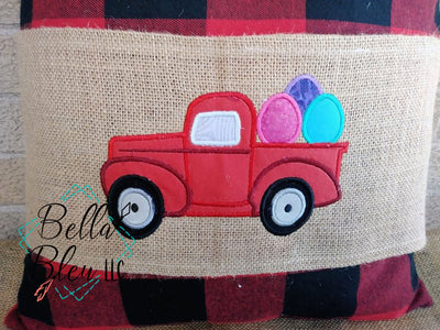 Vintage Easter Truck with Easter Eggs