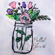 Flowers in Jar Scribble Sketchy