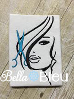 Hair Stylist with Scissors Machine Embroidery Design