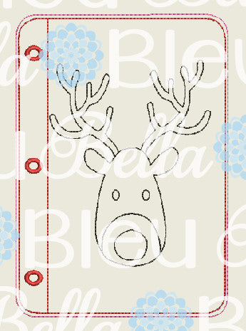 ITH Rudolph Reindeer coloring page pages machine embroidery design