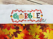 "Thanksgiving ""Gobble"" machine embroidery design"